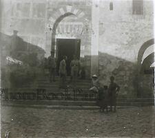 Hébron Tombeau d'Abraham Palestine Plaque verre stereo Vintage ca 1930