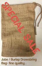 4x6 inch Organic Jute or Burlap Bags * EXCELLENT QUALITY* Quantity- 100 *SALE*