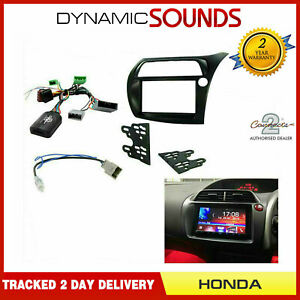Car Stereo Double Din Fascia Steering For RHD Honda Civic 2006-2011 FN TYPE R