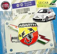 FREGIO LOGO STEMMA LATERALE ADESIVO FIAT 500 ABARTH dal 2007 > 6/2015  ORIGINALE