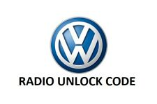 VW Radio Code Unlock Decode PIN Volkswagen Radio Code