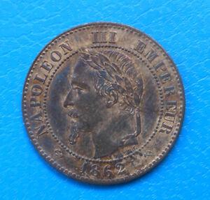 Napoléon III , 2 centimes 1862 K Bordeaux