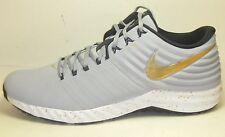New Nike Lunar Trout 2 Turf Baseball Trainers Promo Sample Gold Grey Black Sz 14