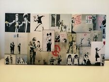 Banksy Montage Canvas Wall Art Picture Print