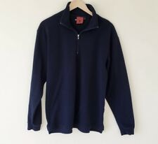 SPYDER Pullover Blue Mens Fleece Sweatshirt 1/2 Half Zip Size M Medium Vintage