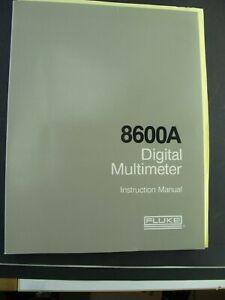 Instruction Manual, Gebrauchsanleitung Fluke 8600A Digital Multimeter Kalibrieru