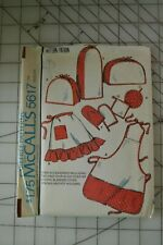 McCalls 5617 sewing pattern, home decor toaster & blender cover, apron potholder