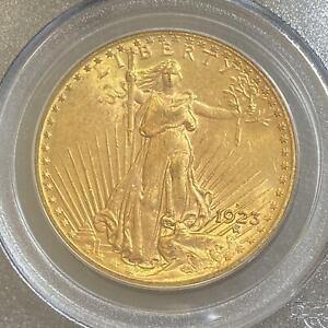 1923 D Gold $20 Saint Gaudens PCGS 63