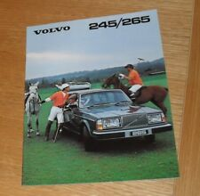 Volvo 245 & 265 Estate Car Brochure 1980