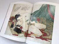 Japanese Hanga Book Vtg Syunga Eisen Nude Woman Ukiyoe Print Kimono h035