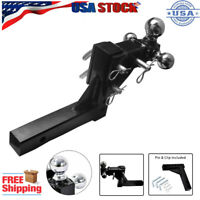 "3 Ball Tri-ball Swivel Adjustable Trailer Tow Drop Hitch Ball Mount 2"" Receiver"
