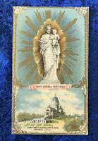 Vintage Antique 1912 Saint Joseph Holy Prayer Card Catholic Religious Protection
