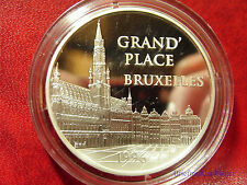 1996 France Large Silver Proof  100 Fr/15 Euro Bruxelles Grand Place