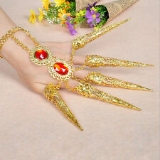 Belly Dance Dancing Finger Cot Costume Indian Thai Golden Finger Jewelry 1pc