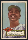 1952 TOPPS #394 BILLY HERMAN HALL OF FAME HIGH NUMBER BROOKLYN DODGERS LIGHT PEN
