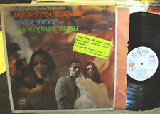 Turner Ike & Tina River Deep Mountain High US LP w/george harrison sticker PROMO