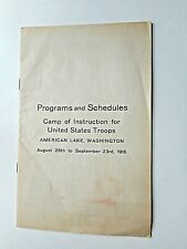 Ww l Program American Lake Wa. 1916 Camp of Instructions Us Troops army