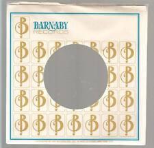 Company Sleeve 45 BARNABY White w/ Repeating B Logo Blue Barnaby Logo on