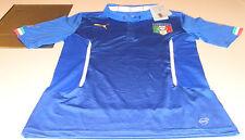 2014 Team Italy World Cup Soccer Blue Jersey L Puma Authentic Pro Match + Bonus