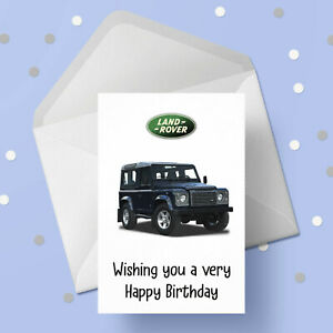 Land Rover 4WD 01 Birthday Card - Free 1st class postage