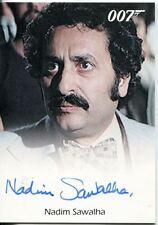 James Bond Archives 2014 Autograph Nadim Sawahla in The Spy Who Loved Me
