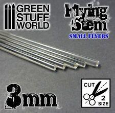 Barras Acrilicas - Redondas 3 mm Transparentes - Mastil Voladores Warhammer