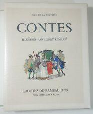 Cuentos de La Fuente Ilustrados por Henry Lemarié Tomo 1 Ed Rameau d'or Cotinaud