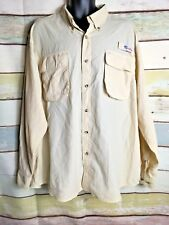 All American Fisherman Vented Fishing Shirt Mens Size 2XL Yellow Long Sleeve