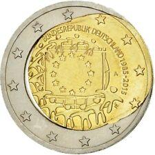 [#482748] Allemagne, 2 Euro, 2015, Fautée - Coeur déformé, SPL, Bi-Metallic