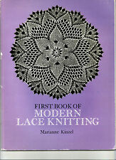 LACE KNITTING/KEYS TO CHARTS IN ENGLISH/FRENCH /GERMAN / MARIANNE KINZEL 1972