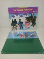 New listing RARE ICE SKATING PLAYBOARD ~FELT BOARD FELTKids AND 24 Pieces~1996 + Green Mat