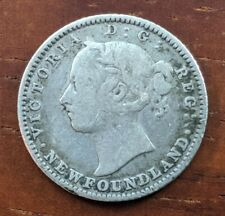 1882 H Newfoundland Canada 10 Cent Victoria Foreign Silver Dime Coin Lot D48
