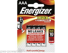 4 x Energizer MAX LR03 AAA Micro 1,5V Batterien Spielzeug PowerSeal  Blister