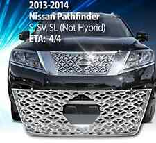 Fits Nissan 2013-2016 Pathfinder chrome mesh Grille Grill insert overlay trim