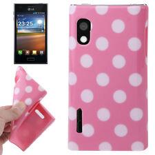 TPU Case für LG E610 Optimus L5 in rosa mit weißen Punkten Hülle Schutzcase