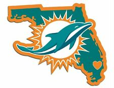 Miami Dolphins Home State Vinyl Decals Football NEW!