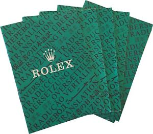 Rolex Watch Oyster Chronometer Translation Booklet Manual -Pick Reference Number
