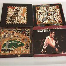 STEVE EARLE 4 CD Lot & 2 DVD Washington Square Serenade I'll Never Get Out Of...