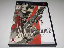 Metal Gear Solid 2 Sons of Liberty PS2 PAL Preloved *Complete*