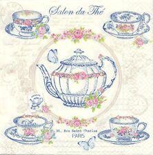 2 Serviettes en papier Salon de thé Boutique - Paper Napkins Tea Room