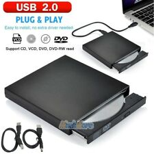 Black External USB 2.0 Region Free DVD Burner Slim CD-RW ROM Combo Player Drive
