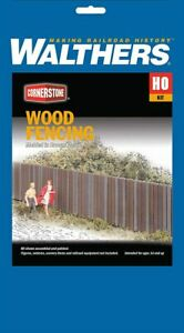 Walthers 993-3521 HO Wood Fencing Buidling Kit