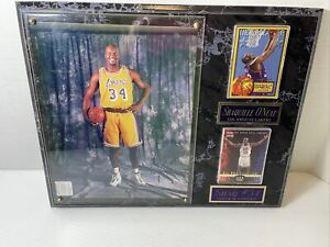 """Shaquille O'Neal LA Lakers Center of Attention 12"""" X 15"""" Licensed Plaque - VGUC"""