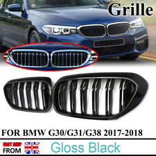 For BMW G30 G31 5 Series Kidney Grille Grill Gloss Black Twin Bar Slat M5 Look