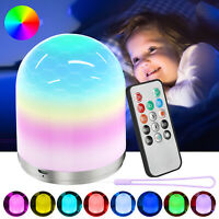 RGB LED Color Change Rechargeable Night Light Baby Nursery Bedside Dimmable Lamp