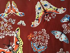 By 1/2 Yard Amy Butler Cotton Fabric ~ Alchemy Queen Ann's Butterflies Ruby Red