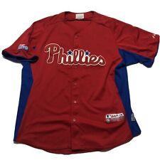 Majestic Philadelphia Phillies Cool Base Jersey Sz Large L Authentic Rare