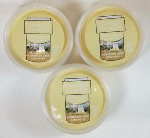 Yankee Candle Melt Cups Scenterpiece HOMEMADE HERB LEMONADE 2.2oz Lot 3 Citrus
