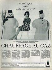 J- Publicité Advertising 1965 Chauffage au gaz Gaz de France