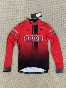 New 2021 Cuore Audi Reno Tahoe Cycling Team Long Sleeve Jersey Men's Small